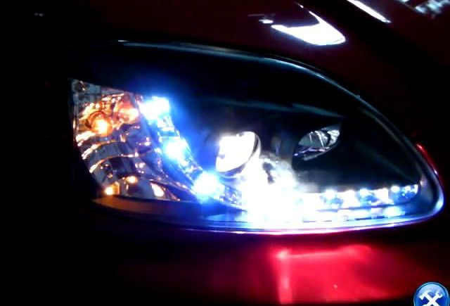 How to install projector headlight in Honda Civic 1996-1998 R8 Style