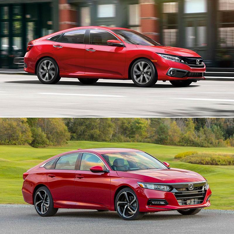 2019 Honda Civic or 2019 Honda Accord: Interior and Performance Comparison